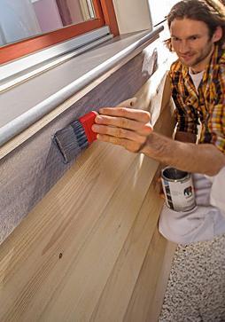Beitsen met meer pigmenten kleuren het hout zichtbaar