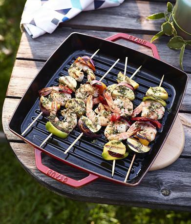 Grills en plancha's passen perfect in de trend van outdoor cooking én ze bieden pluspunten ten opzichte van het barbecueën