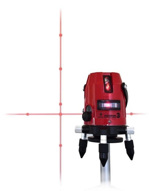 Deze lijnlaser straalt niet alleen een lijn uit, maar daarbovenop ook elf laserpunten, die volgens de fabrikant in de zon zichtbaar zijn met het blote oog