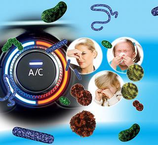 Niet alleen onfrisse geurtjes, maar ook tal van schadelijke micro-organismen kunnen zich in een onrein aircosysteem ophouden