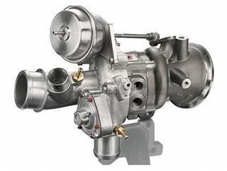 De turbo van een 1liter EcoBoost benzinemotor, voor in een Ford Focus, zorgt ervoordat de motor (74 kW en 100 pk) presteert als een 1,6liter viercilinder