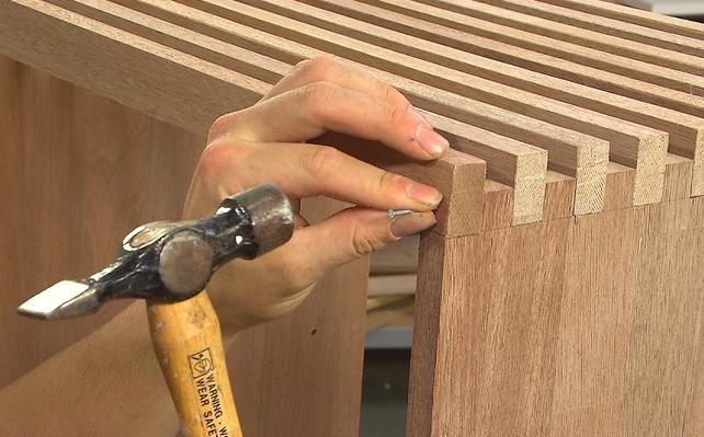 audiomeubel bouwplan zelf maken leefruimte inrichten houtbewerking tandverbinding