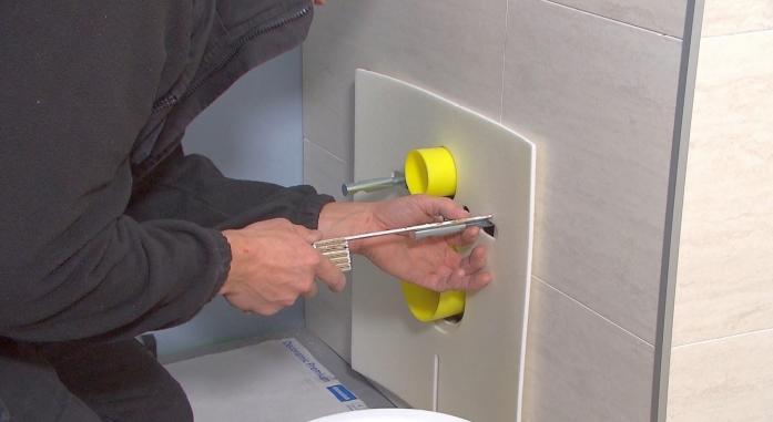 hangwc hangtoilet inbouwsas wc toilet inbouwen sas hoe monteren pot porselein