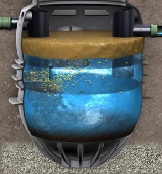 Principe de séparation: la graisse est plus légère que l'eau et flotte, la saleté plus lourde descend
