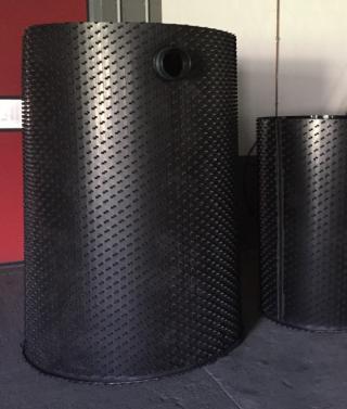 Een HDPE-binnenbekleding beschermt betonnen afscheiders tegen de inwerking van vetzuren
