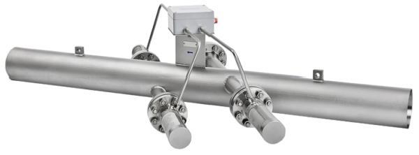 Deze (ingebouwde) ultrasone stoomdebietmeter heeft geen bewegende delen, zodat maintenancekosten beperkt blijven