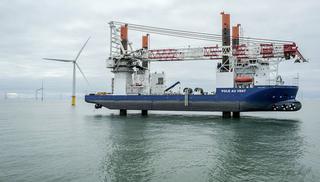 Jan De Nul Group dispose d'un large parc de machines et d'une grande flotte. Le navire d'installation Vole au Vent pour éoliennes a été récemment mis en service