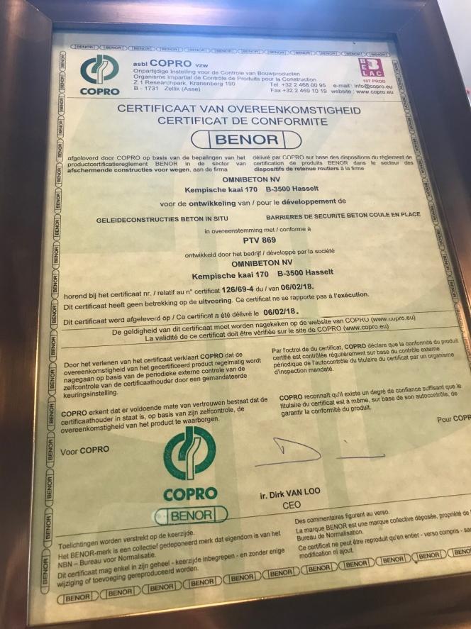 BENOR-certificaat