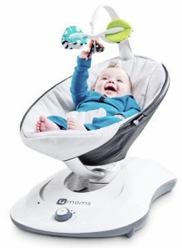 De 4Moms mamaRoo wordt ook met een app bediend om baby niet te storen (Vinke Trading)