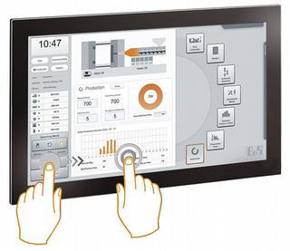 De multitouchtechnologie laat handelingen als zoomen en swipen toe, net als bij een tablet