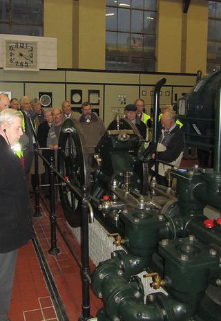 Foto genomen in de museumhal tijdens een excursie naar de Suikerunie in Dinteloord op 06/11/2010