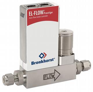 De EL-FLOW Prestige is een massflowmeter en regelaar (inclusief regelventiel) voor gassen in het bereik van 0,014 ml/min. tot 20 liter/min. Dit instrument werkt volgens het thermische meetprincipe en is geschikt voor diverse toepassingen, waaronder lab en voor inbouw in machines (bv. die waarmee ledjes worden gemaakt)