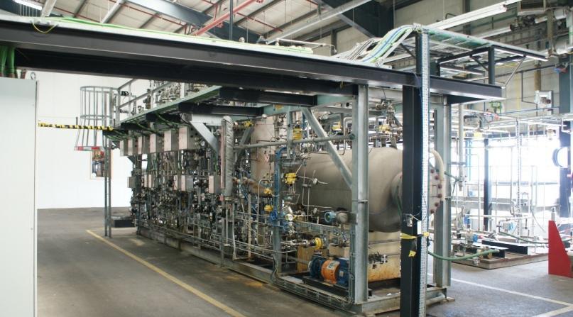 De Flex-unit wordt momenteel gebruikt voor hydrotreating (pyrolyseolie)