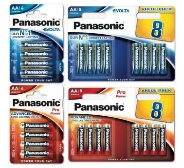 Panasonic evolta en pro power AA batterijen