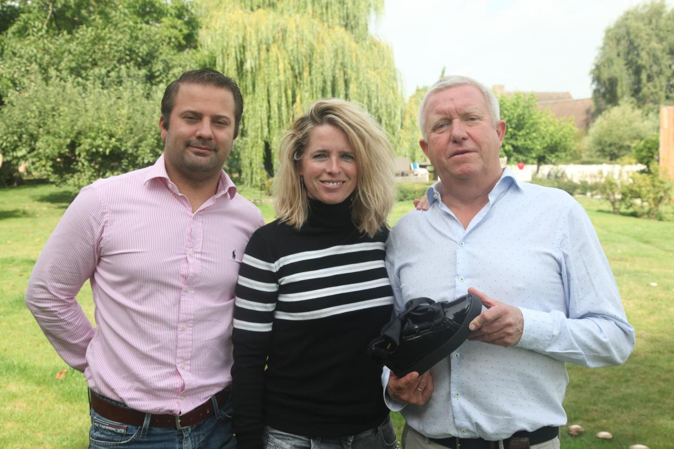 Vlnr: Lorenz Dekimpe, Stefanie Verduyn en Peter Roweis