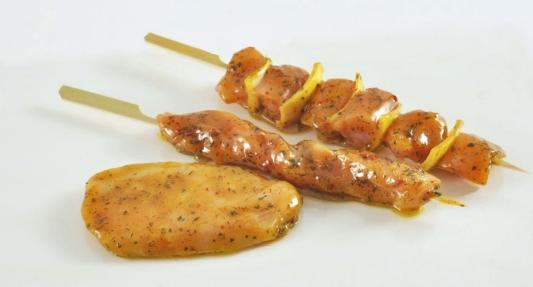 Aziatisch gemarineerde kip en brochette