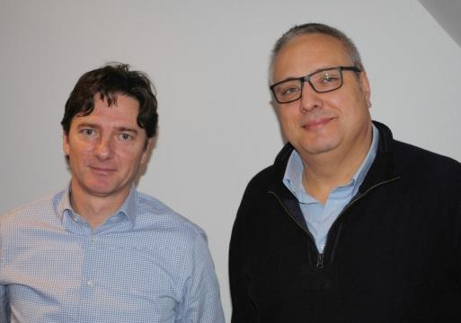 Youri Arani, projectmanager bij Smartgreen, en Mario Rinaldi (Flexisolutions)