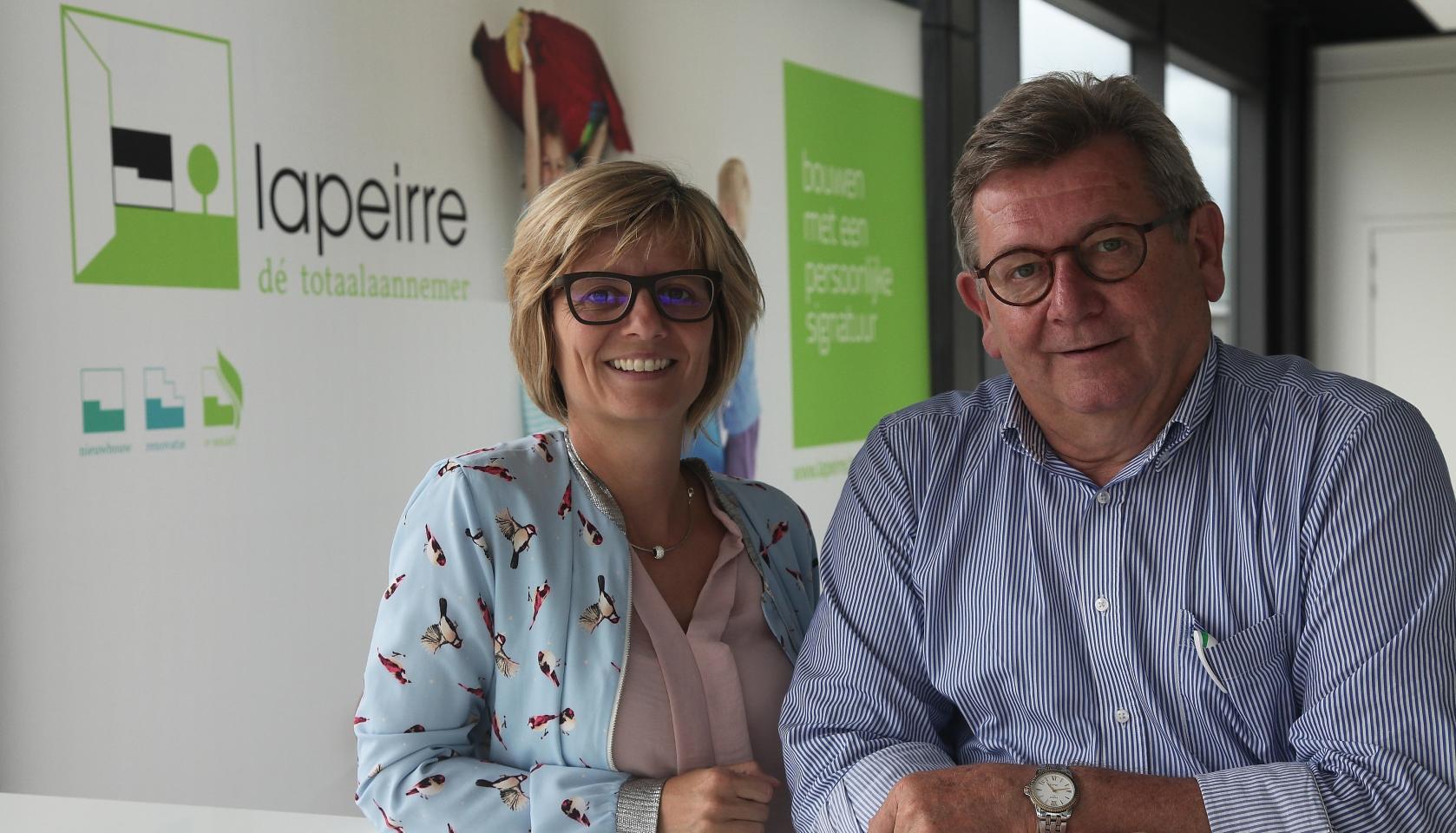 Isabel en Patrick Lapeirre leiden samen het familiebedrijf en kunnen als totaalaannemer makkelijk superviseren dat alle processen op elkaar afgestemd zijn
