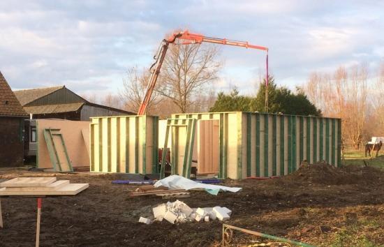Wind- En waterdichte houtskeletbouw
