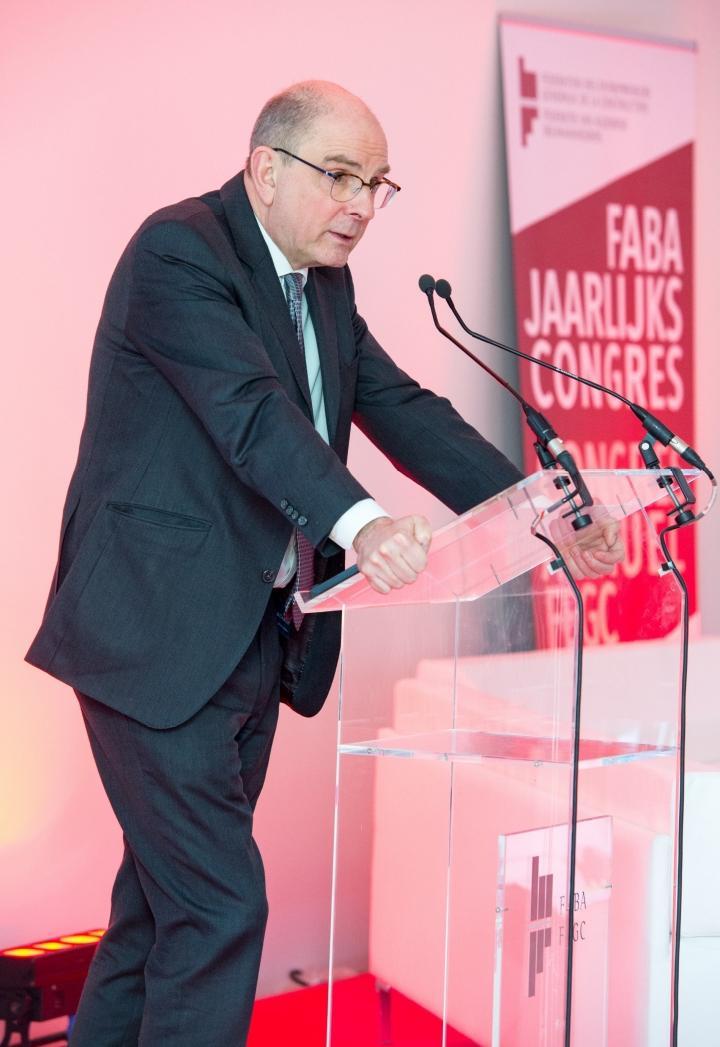 Minister Koen Geens op FABA congres
