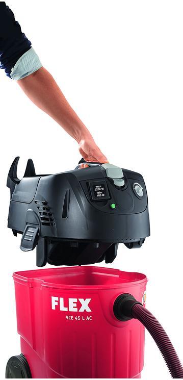 De stofzuiger is eenvoudig te reinigen door de goede toegang tot het reservoir
