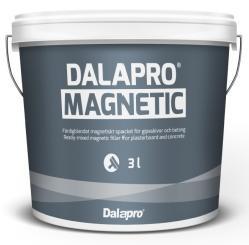 Cet enduit pour application manuelle prêt à l'emploi donne une surface magnétique prête à être peinte